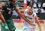Lietuvos krepšininkai nusileido Nigerijos rinktinei, tačiau išsaugojo pirmą vietą grupėje