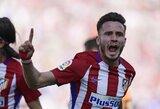 """Ispanija: ketvirtą pergalę iš eilės iškovoję """"Atletico"""" toliau žengia sidabro link"""