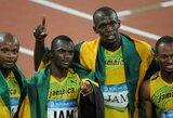 Trigubų U.Bolto olimpinių medalių seriją sunaikino jo komandos draugo teigiamas dopingo testas