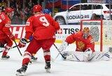 Aiškios pasaulio ledo ritulio čempionato ketvirtfinalio poros bei 9-16 vietas užėmusių komandų rikiuotė