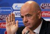 """G.Infantino: """"Kataro kaimynai gali padėti rengti pasaulio čempionatą"""""""