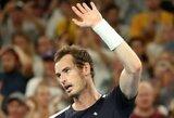 A.Murray'us neatsilaikė prieš favoritą, N.Djokovičius ramiai pateko į pusfinalį