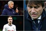 """Ch.Erikseną likti Londone paraginęs J.Mourinho kirto per nagus A.Contei: """"Jis neturėtų kalbėti apie kitų klubų žaidėjus"""""""