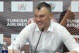 """Spaudos konferencijoje plojimų sulaukęs Š.Jasikevičius: """"Pabrėžiu, kad mane iš čia bus labai sunku ištraukti ir turbūt reikės išspirti pro duris"""""""