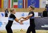 Tinklininkės V.Vitkauskaitė ir U.Andriukaitytė Slovėnijoje žengė į pusfinalį