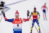 J.T.Boe sutrukdė M.Fourcade'ui Osle iškovoti penktą pasaulio čempionato aukso medalį