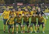 Lietuvos futbolo rinktinės sudėtį kontrolinėms rungtynėms Moldovoje praretino traumos