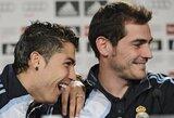 """I.Casillasas: """"Dar nemačiau nei vieno žaidžiančio taip gerai, kaip C.Ronaldo"""""""