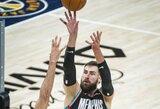 J.Valančiūnas prieš NBA lyderius pratęsė rekordinę seriją