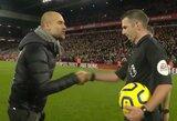 """Pamatykite: P.Guardiola po pralaimėtų rungtynių prieš """"Liverpool"""" sarkastiškai padėkojo teisėjams"""