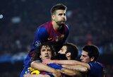 """Čempionų lygos pusfinalyje – po atkaklios kovos """"Milan"""" klubą įveikusi """"Barcelona"""""""