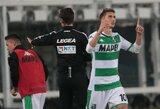 """""""Sassuolo"""" minimaliu rezultatu įveikė """"Verona"""" futbolininkus"""