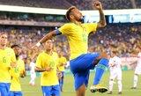Brazilija nugalėjo JAV, L.Suarezas pelnė dublį, o Urugvajus sutriuškino meksikiečius