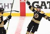 """Dviejų įvarčių deficitą panaikinusi """"Bruins"""" pergalingai pradėjo Stenlio taurės finalą"""