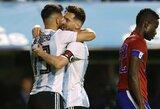 S.Aguero užstojo L.Messi dėl gaunamos kritikos žaidžiant Argentinos rinktinėje