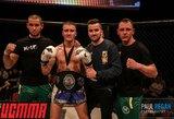 """L.Kavaliauskas iškovojo """"UCMMA"""" čempiono diržą, M.Kondratavičius nugalėjo varžovą skausmingu veiksmu"""