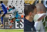 """Po šiurpaus susidūrimo su vartininku Nanu išgabentas į ligoninę: """"Porto"""" žaidėjai nesulaikė ašarų"""