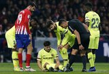 """Lygiosios su """"Atletico"""" """"Barcelonai"""" kainavo du traumuotus žaidėjus"""