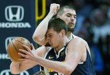"""20 taškų persvarą išbarsčiusi """"Nuggets"""" palaužė """"Clippers"""", mačo pabaigoje išvytas D.Riversas"""
