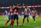 """Tris taškus įsirašę """"Atletico"""" pasivijo Ispanijos lyderius"""