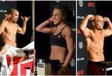 """""""UFC on FOX 30"""": visi buvę UFC pasaulio čempionai svėrimų metu išvengė problemų"""
