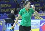 A.Stapušaitytei nepavyko pateikti dar vienos staigmenos badmintono turnyre Čekijoje