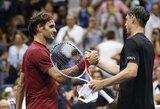"""Sensacija: 55-oji pasaulio raketė J.Millmanas išmetė R.Federerį iš """"US Open"""" turnyro"""