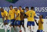 Brazilija sutriuškino varžovus, Argentina neįveikė Peru