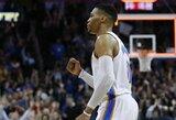 """R.Westbrooko taškai leido išvengti pralaimėjimo """"Nets"""""""