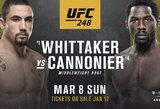 """Pasaulio čempiono diržą praradęs R.Whittakeris sugrįš """"UFC 248"""" turnyre"""