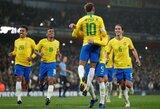 Dideliais šuoliais į viršų: Neymaras – jau dešimtas pagal sužaistas rungtynes Brazilijos rinktinėje