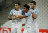 """""""Marseille"""" minimaliu rezultatu įveikė dešimtyje rungtyniauti likusius """"Bordeaux"""" futbolininkus"""