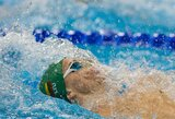 Lietuvos rekordą 200 m nugara rungtyje pagerinęs D.Rapšys pasaulyje - penktas