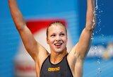 Po ligos atsigaunanti R.Meilutytė Brazilijoje pagerino rekordą ir iškovojo antrą aukso medalį