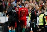 """C.Ronaldo nesijaudina dėl patirtos traumos: """"Grįšiu po savaitės ar dviejų"""""""