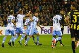 """Europos lyga: dramatiškoje kovoje """"Lazio"""" palaužė """"Vitesse"""""""