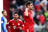 """Pergalę Vokietijoje iškovoję """"Bayern"""" futbolininkai susilygino taškais su čempionato lydere """"Borussia"""" ekipa"""