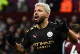 """S.Aguero tapo rezultatyviausiu užsieniečiu """"Premier"""" lygos istorijoje, o """"Man City"""" sutriuškino """"Aston Villa"""""""