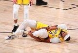 """""""Lakers"""" klube – lengvas nerimas dėl A.Daviso traumos"""