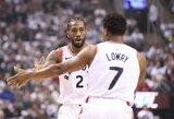 """K.Lowry: """"Leonardas žaidžia neįtikėtinai, bet aš jam nieko nepadedu"""""""