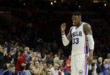 """""""76ers"""" sustabdė įsibėgėjusią """"Wizards"""""""