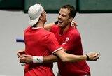 Australai prarado N.Kyrgiosą ir Daviso taurės ketvirtfinalyje krito prieš kanadiečius
