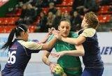 Lietuvos komandų susitikimas Baltijos moterų rankinio lygoje baigėsi netikėta Garliavos klubo pergale