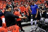 """""""Raptors"""" sirgalius pašiepęs K.Durantas: """"Warriors"""" nėra kalta dėl mano traumos"""""""