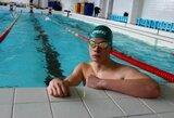 D.Margevičius ir D.Rapšys neturėjo lygių plaukimo varžybų Belgijoje atrankoje