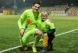 """Su didžiuoju futbolu mergaitę supažindinęs D.Malžinskas: """"Norėčiau, kad tokie žmonės ateityje užpildytų Lietuvos stadionus"""""""