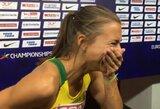 Pamatykite: nesuvaidintos E.Balčiūnaitės emocijos sužinojus apie patekimą į pusfinalį