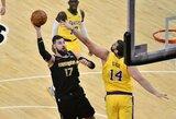 """J.Valančiūnas prieš """"Lakers"""" pratęsė dvigubų dublių seriją"""