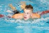 Pirmąją Lietuvos plaukimo čempionato dieną – brolio ir sesers auksas