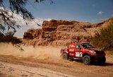 Dakaro ralis: neblogą etapą lietuviams apkartino V.Žalos automobilio gedimas